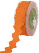 May Arts 2.5cm Wide Ribbon, Orange GrosgrainRic Rac