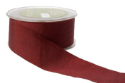 May Arts 3.8cm Wide Ribbon, Burgundy Solid