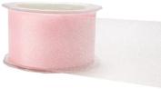 May Arts 5.1cm Wide Ribbon, Pink Sheer Twinkle