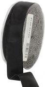 Ampelco Ribbon Company French Wired 27-Yard Taffeta Ribbon, 2.5cm , Black