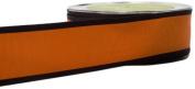 May Arts 3.8cm Wide Ribbon, Orange and Black Grosgrain