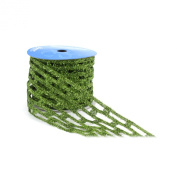 Berwick 10cm Wide by 10-Yard Spool Wired Edge Catchy Craft Ribbon, Citrus