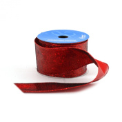 Berwick 6.4cm Wide by 10-Yard Spool Wired Edge Chicago Craft Ribbon, Red