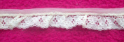 2.5cm Wide White Nylon Polyester Lace, 2 Yards