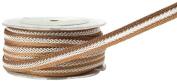 May Arts 1cm Wide Ribbon, Brown Cord