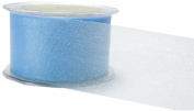 May Arts 2.5cm Wide Ribbon, Light Blue Sheer Twinkle
