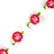 Venus Ribbon 1.6cm Rosebud Organza Trim, 5-Yard