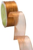 May Arts 3.8cm Wide Ribbon, Metallic Copper
