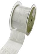 May Arts 5.1cm Wide Ribbon, Silver Sheer Stripes