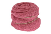 Renaissance 2000 Ribbon, 10cm , Pink Burlap with Wire