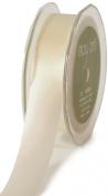 May Arts 10cm Wide Ribbon, Ivory Satin