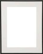 TRIMLINE Black metallic frame with soft-white 8x10 mat by Dennis Daniels - 8x10