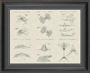 Star Wars Vehicles Patent Art Wall Hanging 20x24 | Fun Jedi Gift