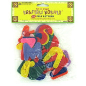 24 Crafting felt letters