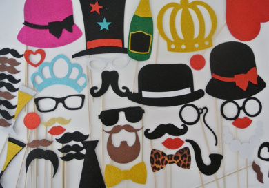 Deluxe Photo Booth Wedding Moustache On a Stick Moustache bash Party Props