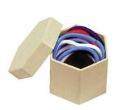 Chenille Kraft Papier-Mache Mini Box - Hexagon