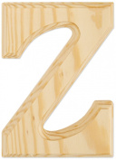 Juma Farms Decorating Wood Letter, 15cm , Letter Z
