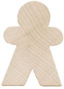 Wood Turning Shapes-Gingerbread Man 2.5cm - 1.9cm x 3.2cm 4/Pkg