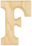 Juma Farms Decorating Wood Letter, 15cm , Letter F
