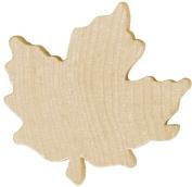 Wood Turning Shapes-Small Maple Leaf 2.5cm - 0.6cm x 0.5cm 4/Pkg