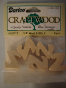 Darice Craftwood 1.9cm Wood Letter Z - 5pcs