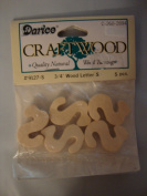 Darice Craftwood 1.9cm Wood Letter S - 5pcs