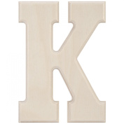 MPI Baltic Birch University Font Letters and Numbers, 13cm , Letter-K Multi-Coloured