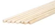 Darice 9162-04 Unfinished Natural Wood Craft Dowel Rod, 0.8cm