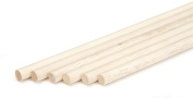 Darice 9162-05 Unfinished Natural Wood Craft Dowel Rod, 1cm