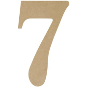 MDF Classic Font Wood Letters & Numbers 24cm -Number 7
