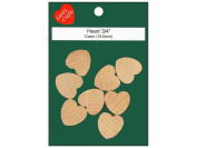 Wood Turning Shapes-Standard Heart 1.9cm x 1.9cm X1/20cm 8/Pkg