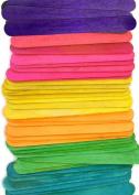 100 Wood Jumbo Craft Sticks Multi-Colour Pack