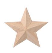 Darice 9191-50 Wood 3D Star, 10cm
