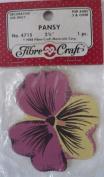 Pansy - 7cm - Pink & Yellow - No 4715 - 1 Decorative Wood Piece