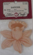 Daffodil - 7.3cm - Peach - No 4745 - 1 Decorative Wood Piece