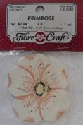 Primrose - 5.4cm - Peach & Ivory - No 4734 - 1 Decorative Wood Piece