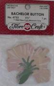 Bachelor Button - 7cm - Peach - No 4733 - 1 Decorative Wood Piece