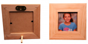 7.6cm X 7.6cm Unfinished Wood Picture Frame - Stands on Table Top or Hangs on the Wall