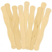20cm Unfinished Wood Wavy Bid Paddle Fan Sticks - 32 Piece Package