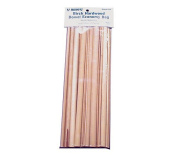 Midwest Products Project Woods Birch Dowels Economy, Bag of 36