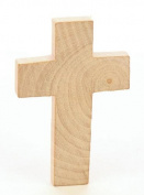 Package of 24 Unfinished Wood Crosses for VBS, Scouts and Bible School Projects