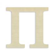 UNFINISHEDWOODCO Oversized Unfinished Wood Letter, 46cm , Pi