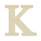 UNFINISHEDWOODCO Oversized Unfinished Wood Letter, 46cm , Kappa