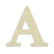 UNFINISHEDWOODCO Oversized Unfinished Wood Letter, 46cm , Alpha