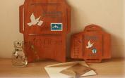 Wood Envelope Template Antique Wooden DIY Envelope Set