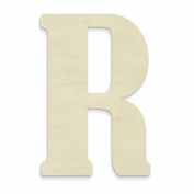 UNFINISHEDWOODCO Unfinished Wood Letter, 38cm , Monogrammed R, Large