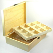 Design Your Own Wood Box DIY Unfinished Sewing Trinket Beads Jewellery Craft