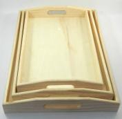 x3 Set Design Your Own Wood Serving Trey DIY Unfinished Craft