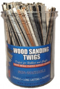 DuraSand Wood Sanding Twigs Bucket of 300 Mixed Colour, Mixed Grit, Variety