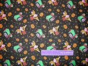 SESAME STREET Halloween Elmo & Zoe Cotton Fabric BY THE HALF YARD